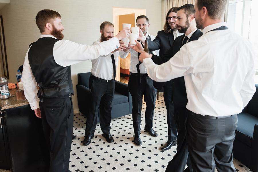 Groomsmen toast.