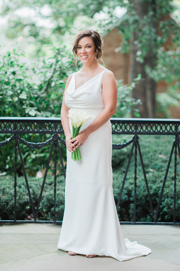 Portrait of bride at Kalamazoo College.