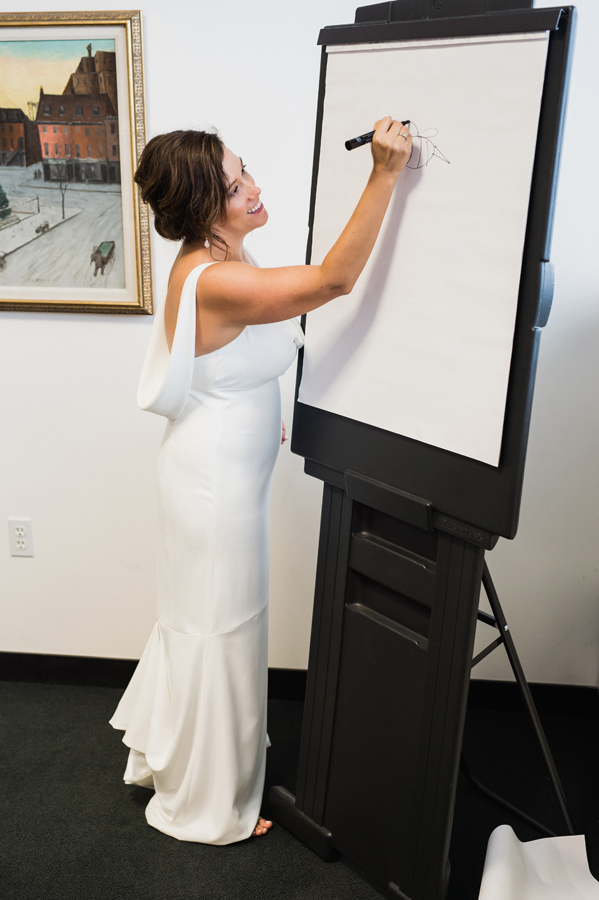 Wedding day pictionary.