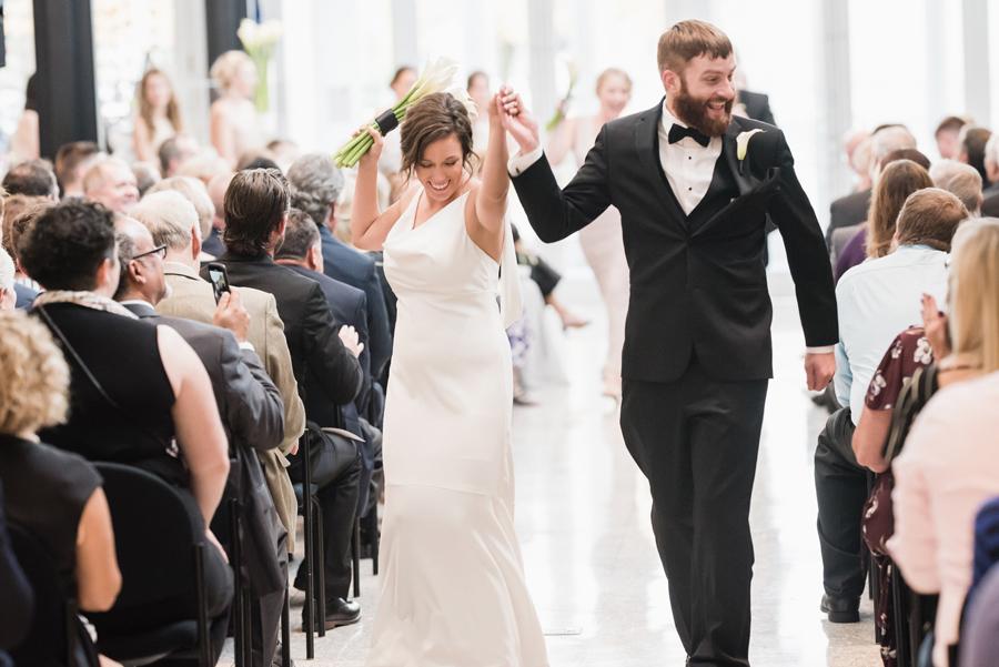 Wedding ceremony at Kalamazoo Institute of Arts.