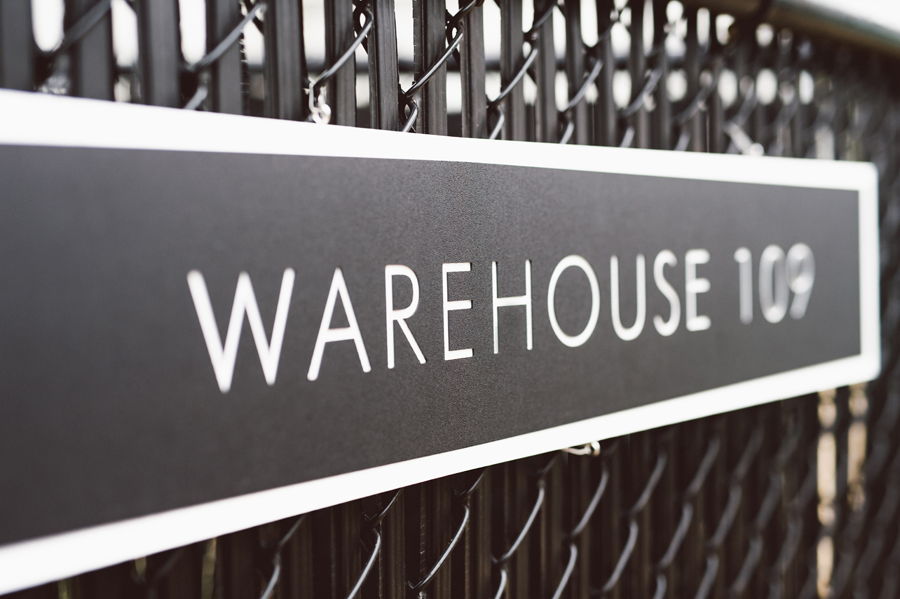 Warehouse 109 sign.