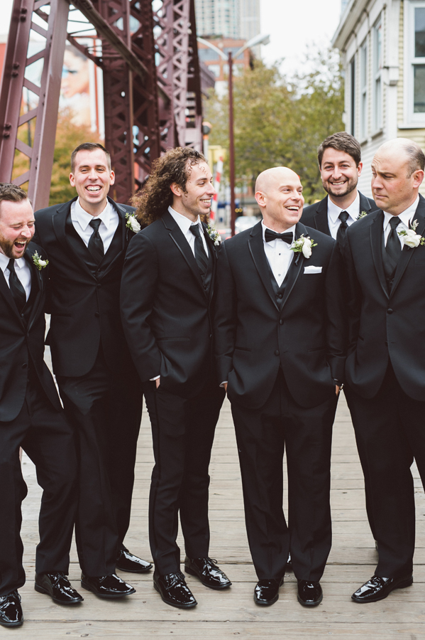 Groomsment at Kinzie street bridge.