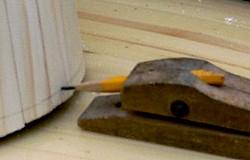 Sådan spidser du din tømrer blyant