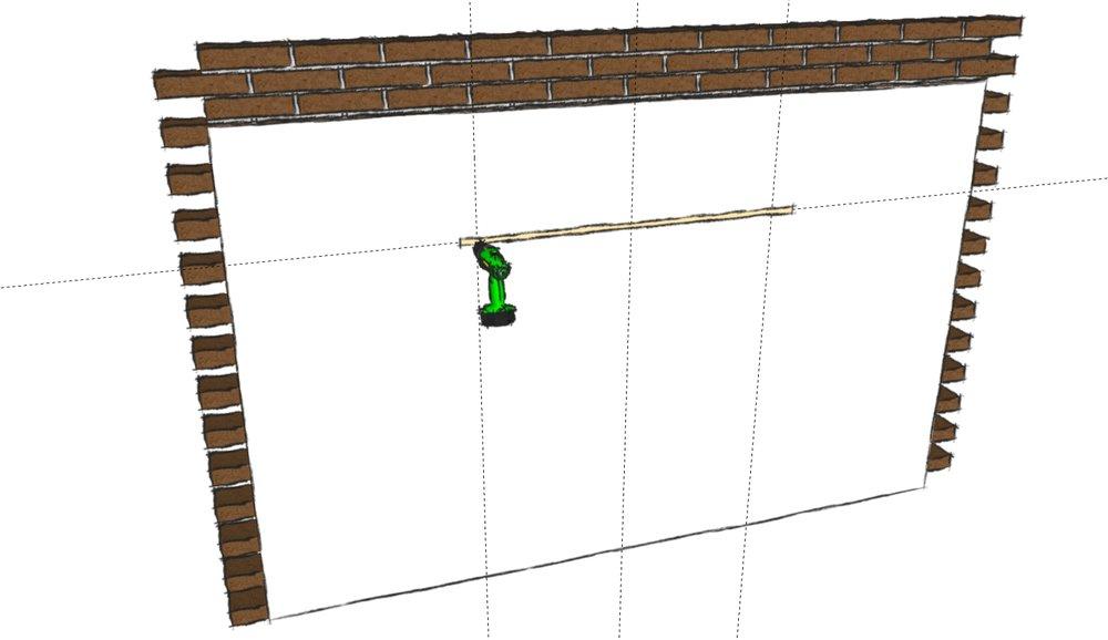 Bore hul i beton / murstensvæg