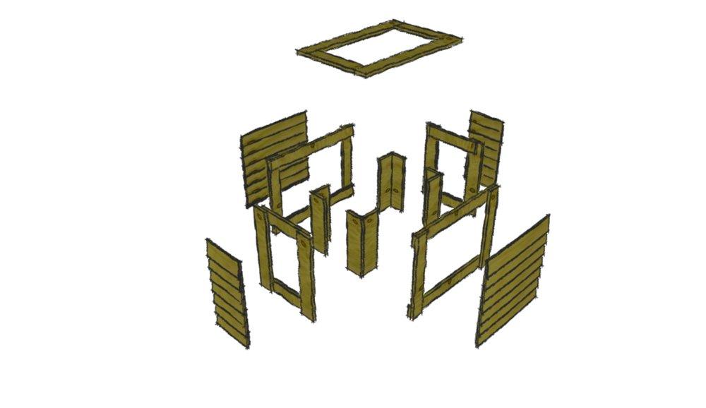 Opdeling - træfarver