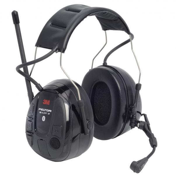 Høreværn med radio og headsæt