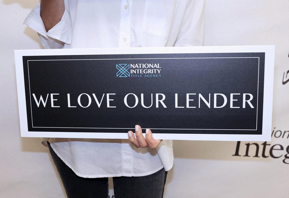 We Love Our Lenders