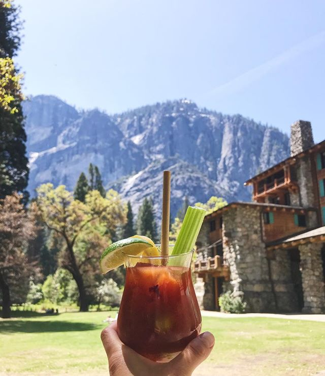 The perfect Bloody Mary 🍹after a magical day of exploring the most breathtaking natural sights in Yosemite National Park 🙏🏻 #howyouglow #glowtravel #yosemite