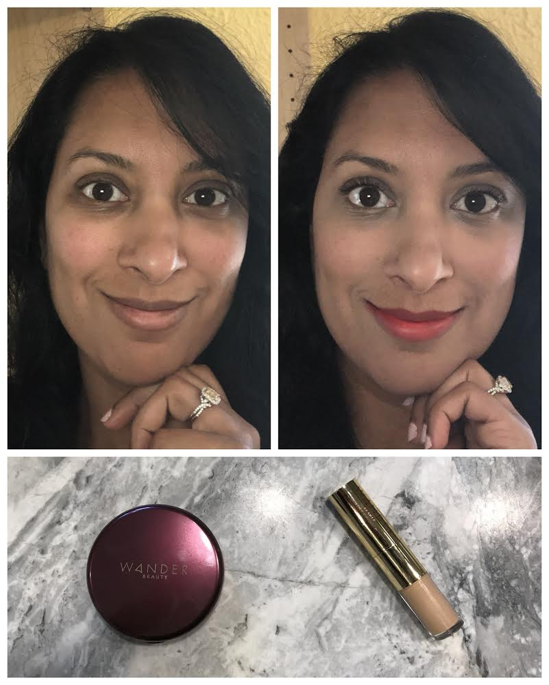 Before and After WanderLust Powder Foundation and Concealer