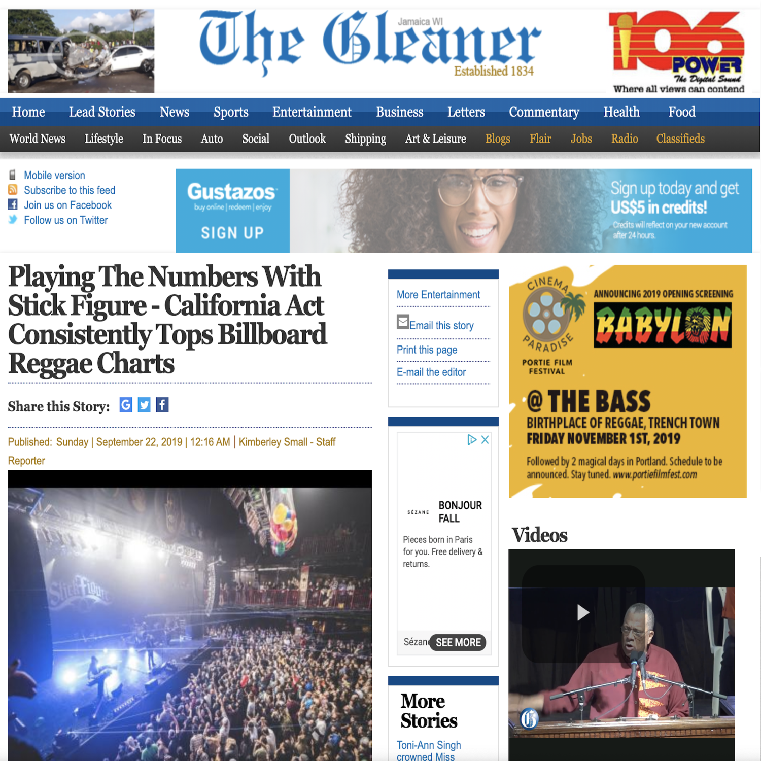 The Gleaner Playing The Numbers With Stick Figure