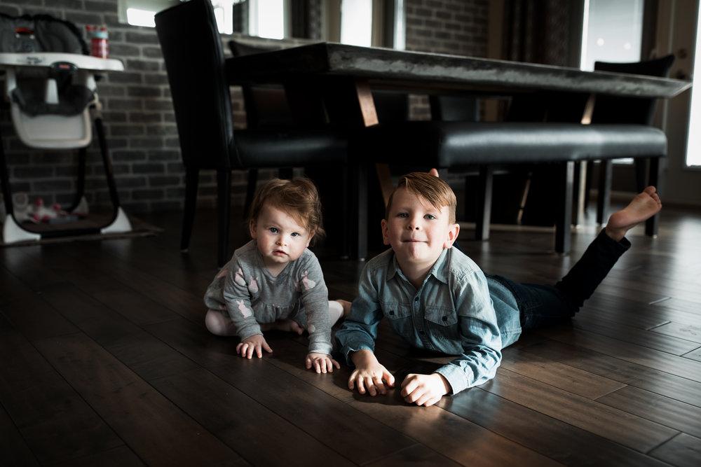 environmental portrait of siblings