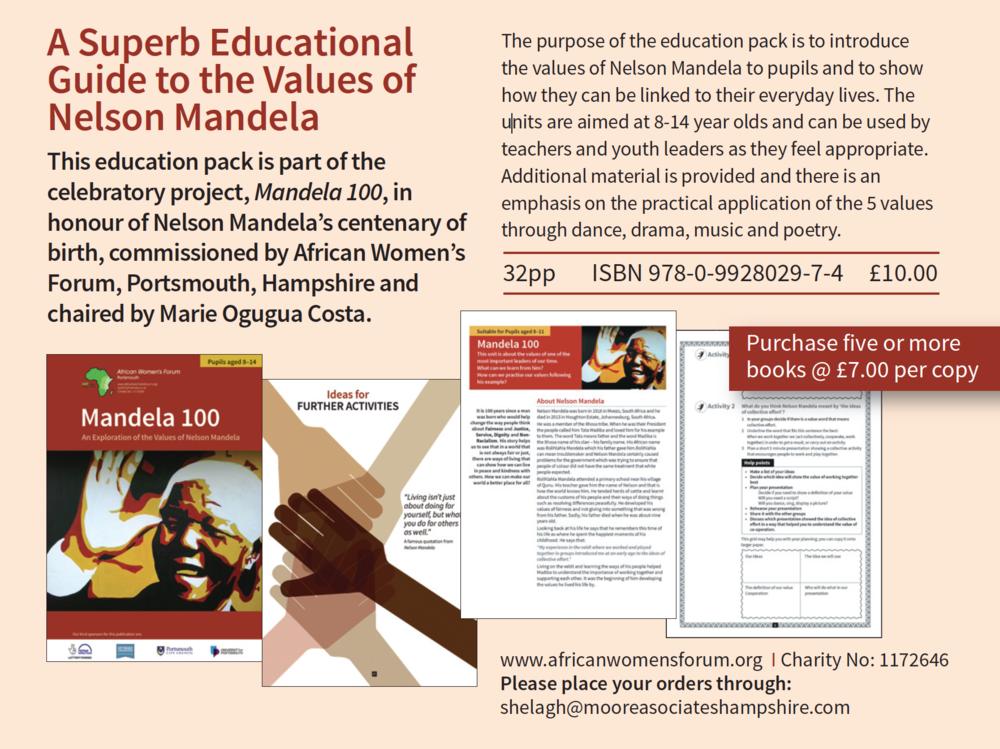 Mandela 100 Portsmouth Education Pack