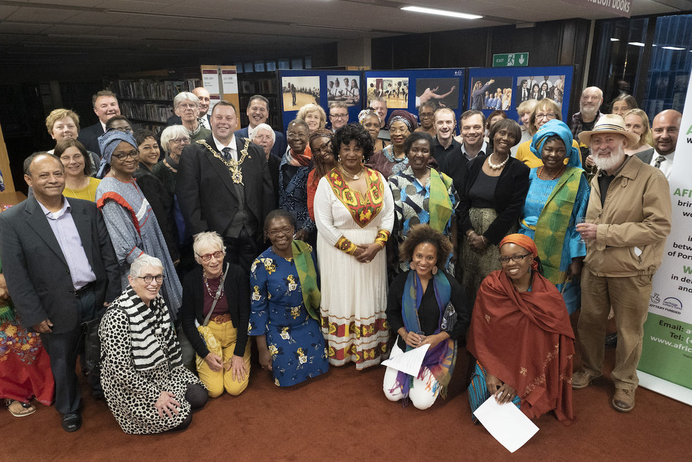 The launch of the Mandela 100 Exhibition at Portsmouth Central Library.