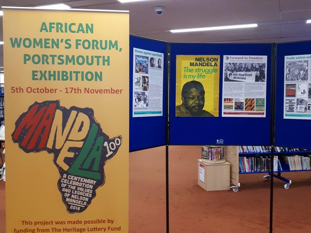 Mandela 100 Portsmouth Exhibition at Portsmouth Central Library