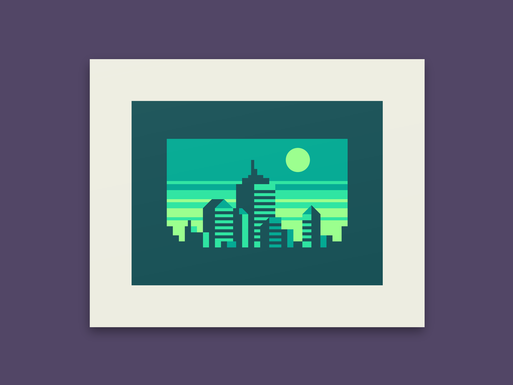 Emerald - Abstract city prints by Canopy Design and Illustration