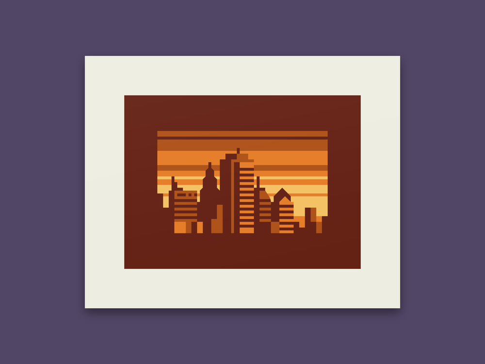 Amber - Abstract city prints by Canopy Design and Illustration