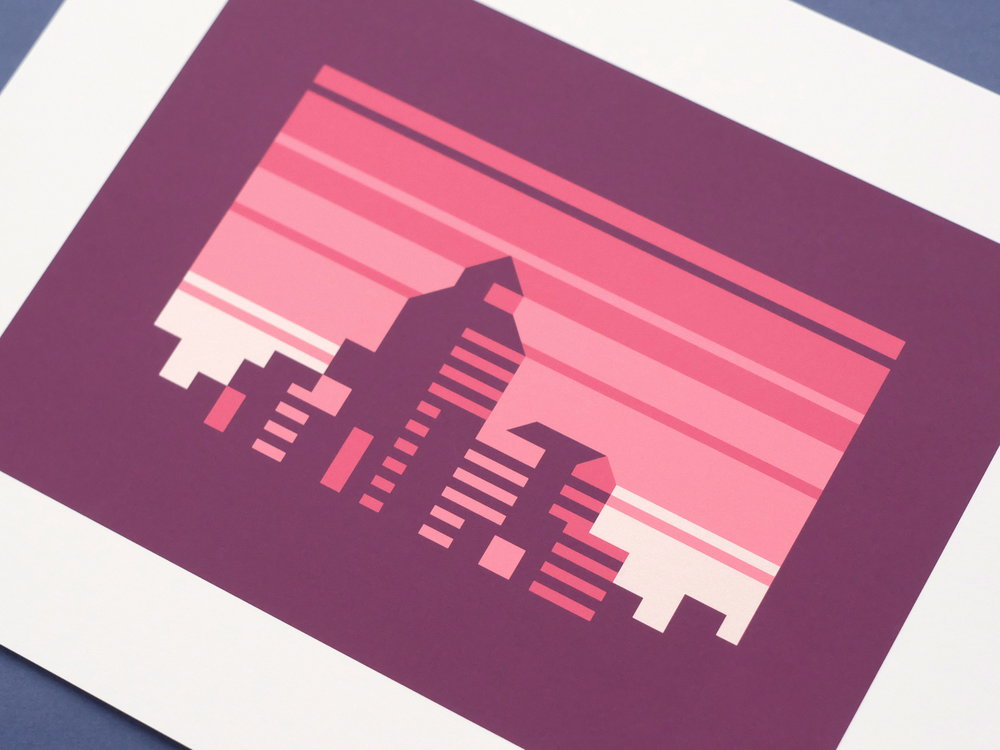 Ruby - Abstract city prints by Canopy Design and Illustration