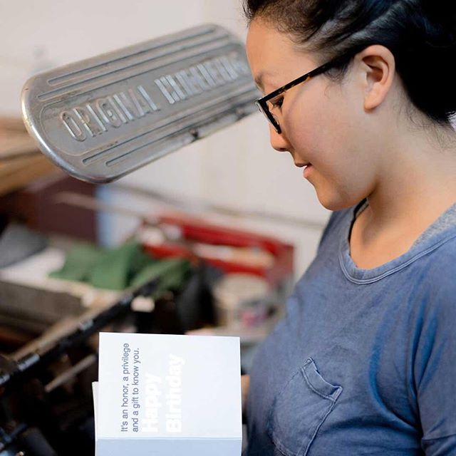Letterpress printer Mariko Iwata on home + business with kids in tow. Interview 01 live on the site