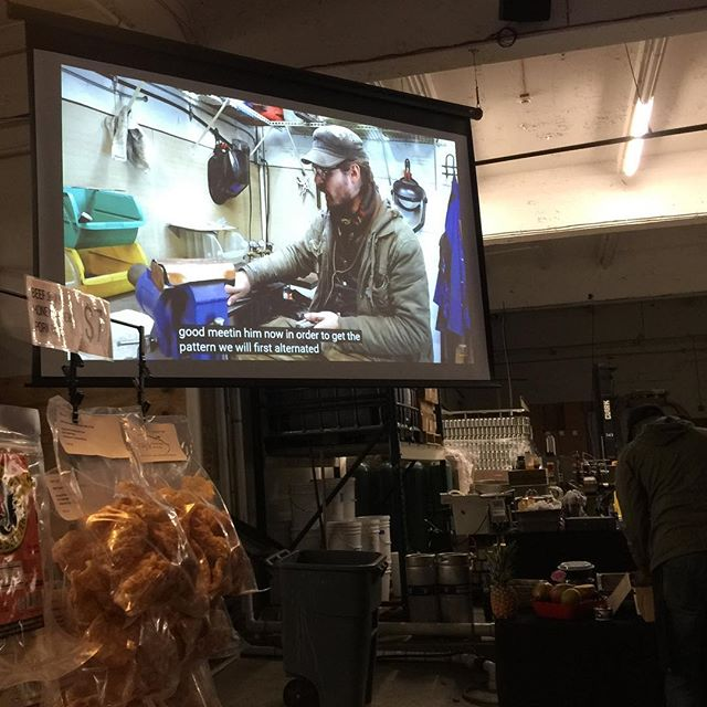 Last night at the @charmcitymead we may have snuck in a quick screening of the latest That Works episode after the @charmcityrollergirls trivia night hosted by the one and only @cannondollx .  #thatworks #knifecommunity #blacksmith #youtubers