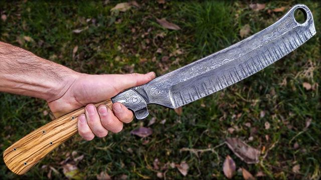 I'm super thrilled how this turned out. We named it the Slavic Razor. This was our first collaboration with another craftsmen on our new channel. Want to see how it's made? Go check out our channel YouTube.com/ThatWorks . See part two where @black_beard_projects makes the handle on his channel.  #knifecommunity #thatworks #blackbeardprojects #bladesmith #blacksmith #youtubers #turningtheworldtodust #manatarms #artshouldhurt