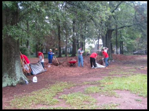 Initial park cleanup in 2009