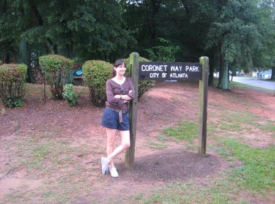 Isabel at the park before the renaming, 2010.