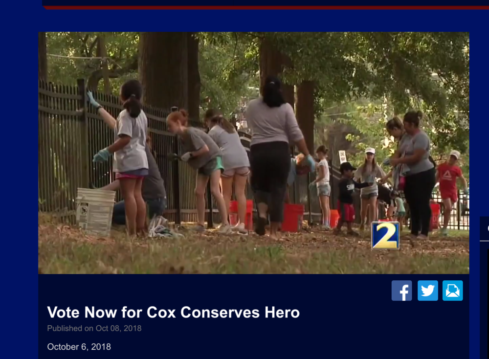 Cox Conserves Hero segment, October, 2018, WSB