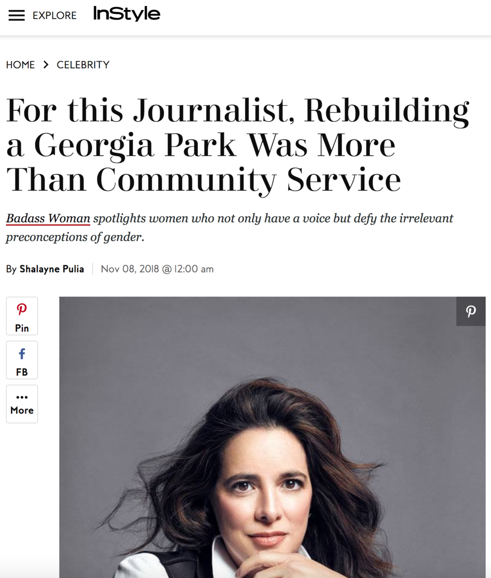 For This Journalist, Rebuilding A Georgia Park Was More Than Community Service , November, 2018, InStyle