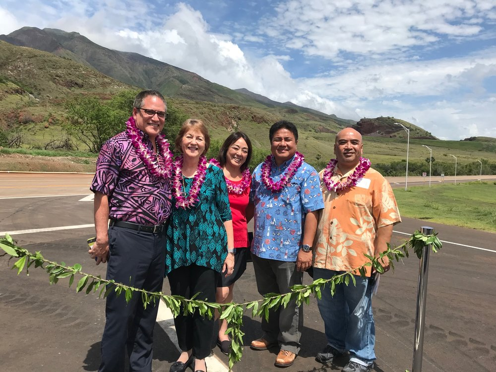 A blessing ceremony for the southern phase of the Lahaina Bypass.   (April 15, 2018)