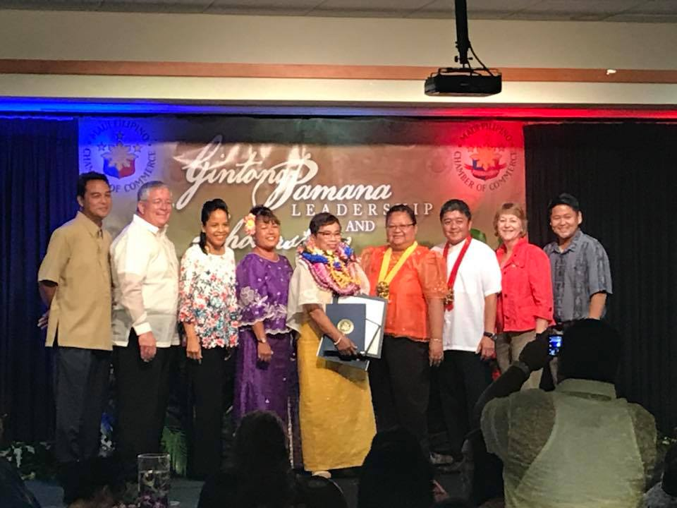 2018 Gintong Pamana Leadership & Scholarship Awards Night sponsored by Maui Filipino Chamber of Commerce. Congratulations to all the winners – an honor well deserved!  (June 13, 2018)