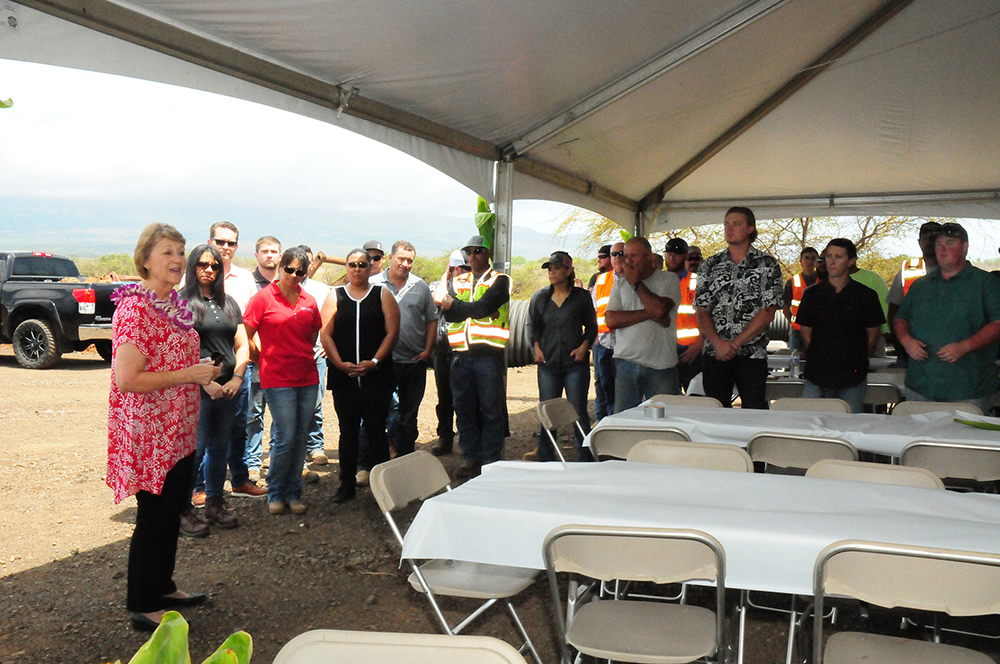Senator Roz Baker thanked GBI employees for their role in helping to realize this important project for the South Maui community.