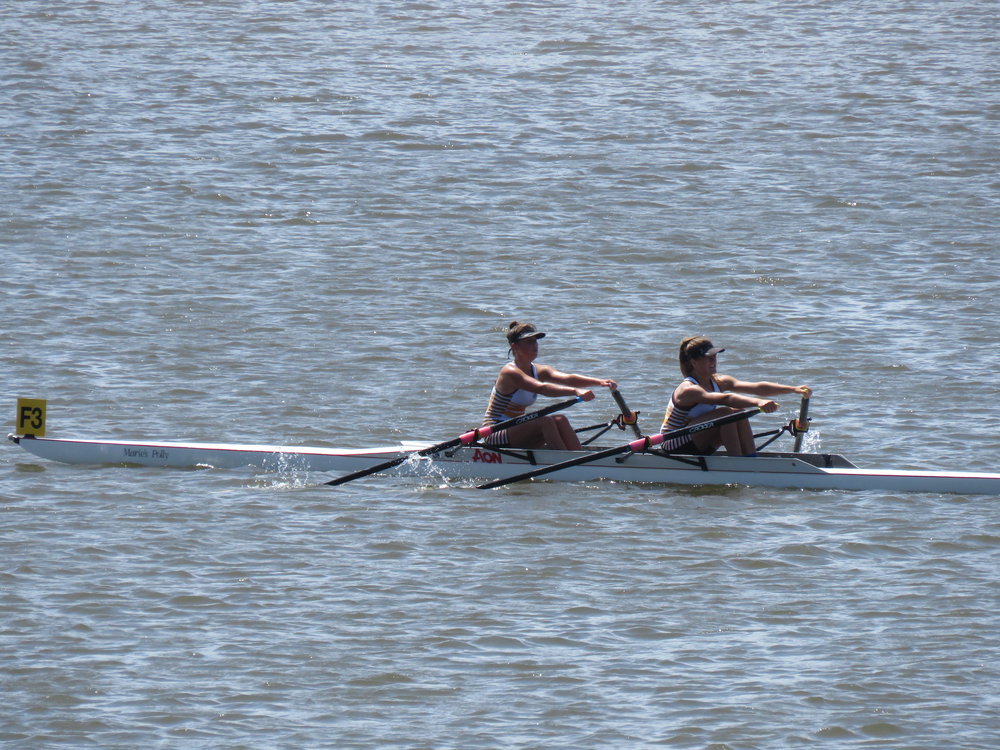 Anna Rikiti & Shakira Mirfin compete in girls under 16 double at Southland Champs last month.