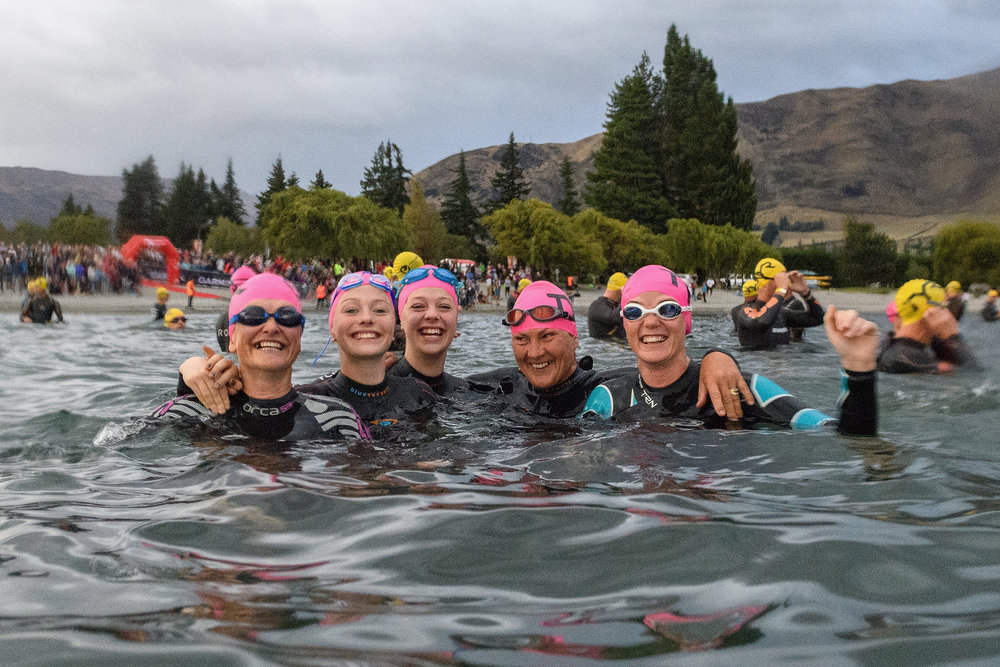 Photo:Competitors look on prior to the start of the 2018 Challenge Wanaka. Pic: Challenge Wanaka/Getty Images