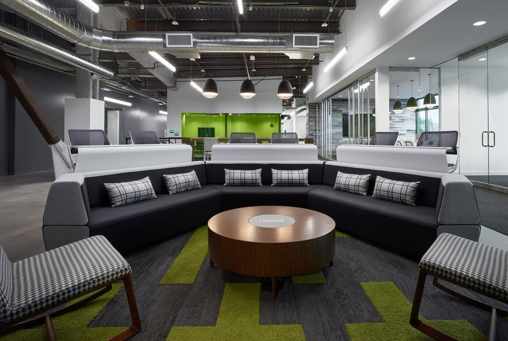 Results - Our team has a great relationship with NAVEX Global which allows for collaboration and creativity to work hand in hand. Design, working with Mackenzie interior design, had the challenge to integrate an existing office with new furniture and still keep the continuity of the brand aesthetic.The success of this project is due to a collaborative effort by Mackenzie (interior designer), Lease Crutcher Lewis (general contractor) and JLL (broker and owner's rep). as the broker representing the owners. Through teamwork and communication the project came to fruition without a hitch.