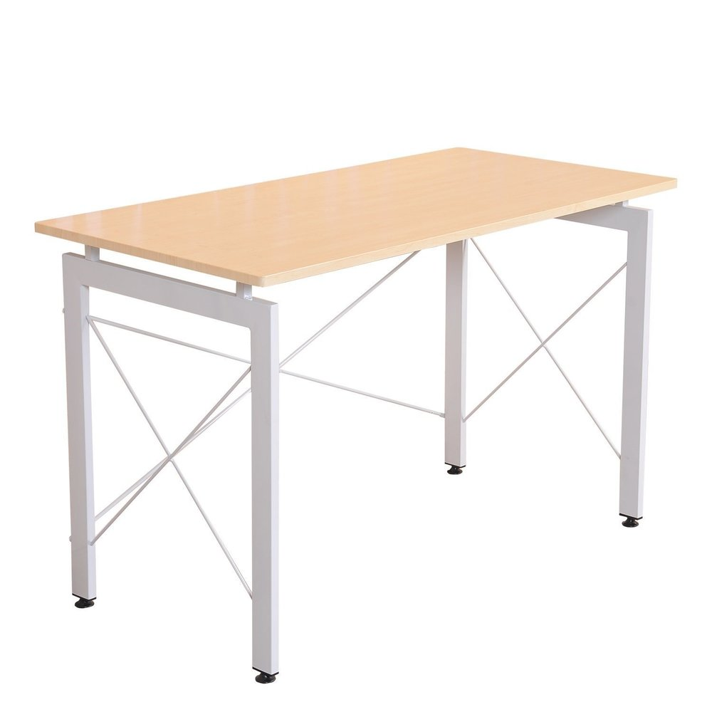 "HomCom 47"" Office Workstation Computer Table Desk - Cream"