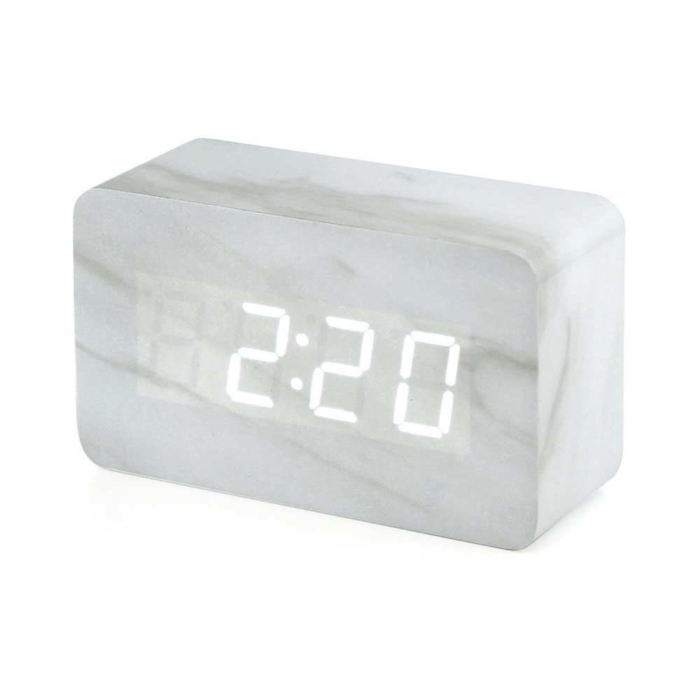 Oct17 Marble Pattern Alarm Clock