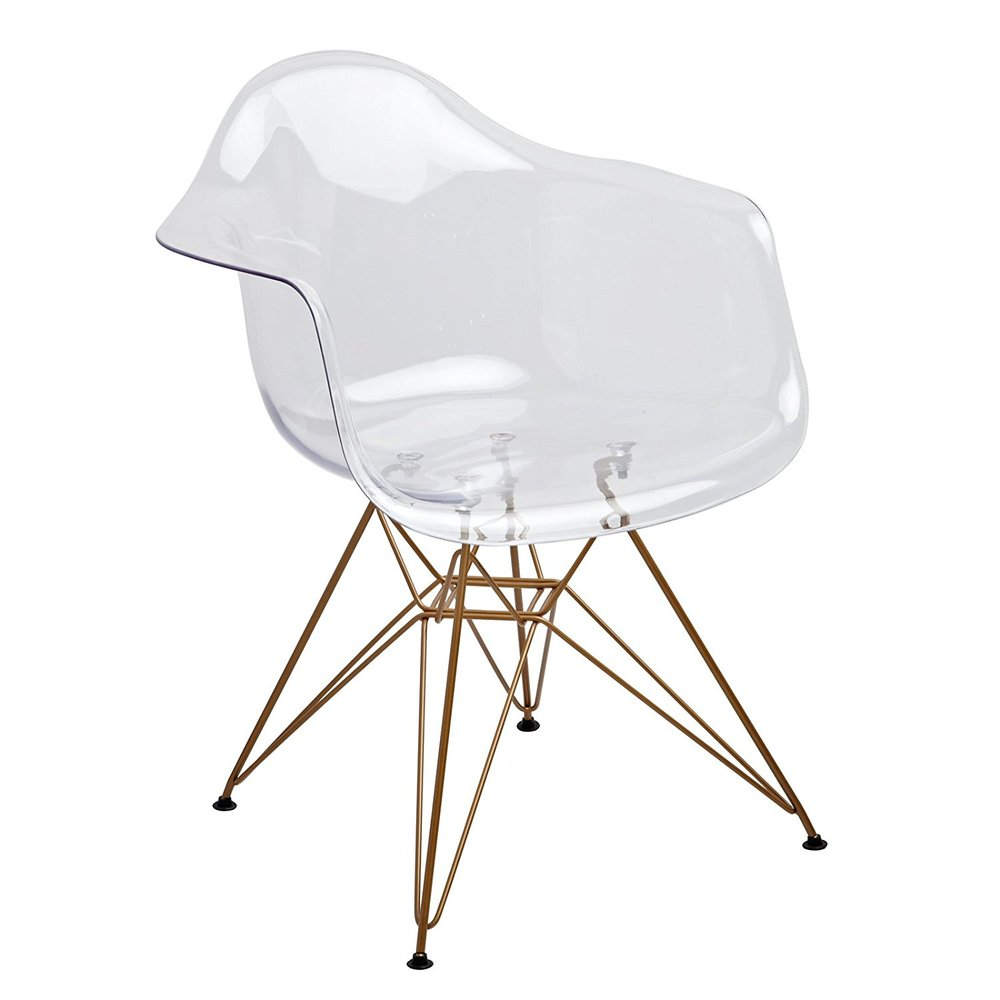 Design Guild Banks Clear Arm Chair