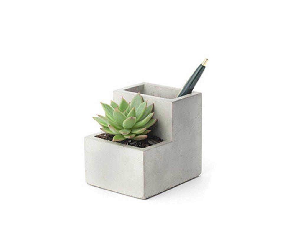 Kikkerland Concrete Desktop Planter