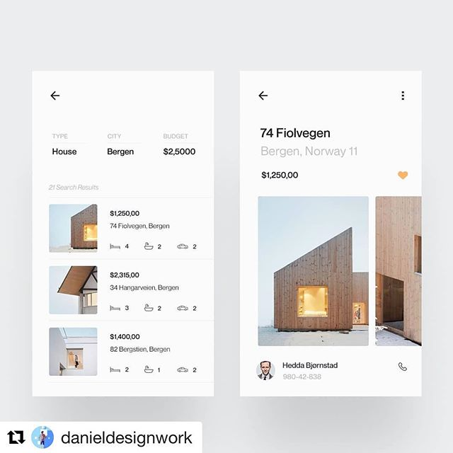 Minimal, sleek. Designed by @danieldesignwork #designinspiration