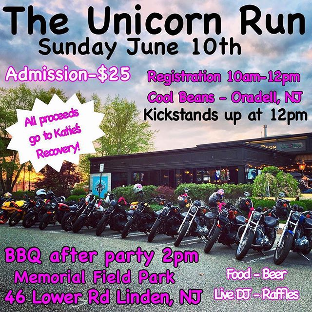 Just a reminder to please stop by the Unicorn Run hosted by @thelitas_northnj to help a great cause!  #Repost @thelitas_northnj ・・・ MARK YOUR CALENDARS!🦄 Sunday June 10th - The Unicorn Run! @xokitkatxo91  Our girl Katie was in a terrible motorcycle accident & lost her leg, along with many other injuries. But this badass babe never gave up & is still fighting her ass off in the hospital. All proceeds from this event will go to Katie's recovery! If you can not make it to the event please donate to the GoFundMe link in our bio☝🏻Let's do this for Katie!💕 #theunicornrun #katiesunicorns #thelitasnorthnj #thelitas