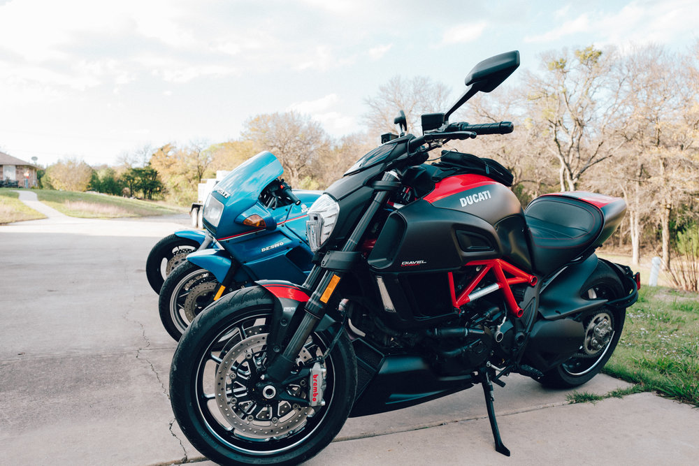 A quiver of two Ducatis and a Kawasaki. All of which have their own unique and excellent qualities. But the sound of that three-cylinder, two-stroke Kawasaki is something to behold.