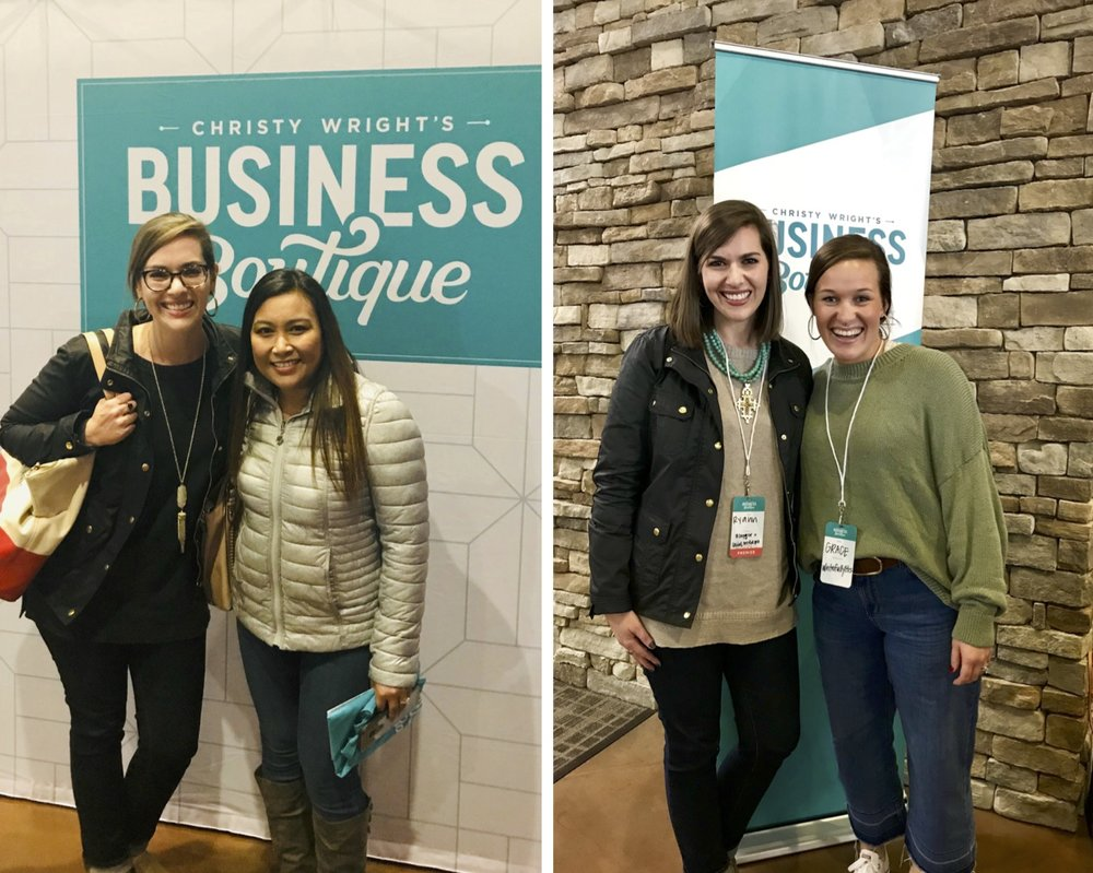 (Left): With my blogger friend Marilie of the  Organized Neatly . (Right): With my college friend, Grace or  WritefullyHis  &  Thrive Global Project !