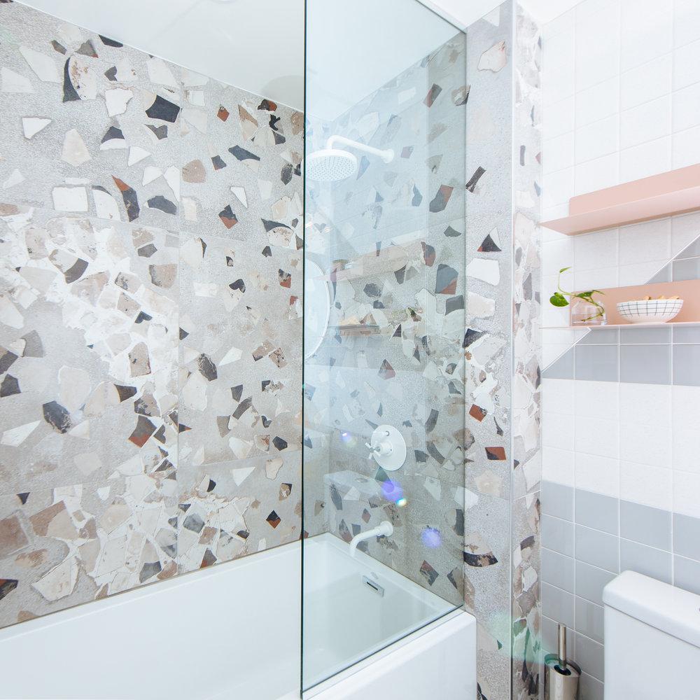 unique modern shower design