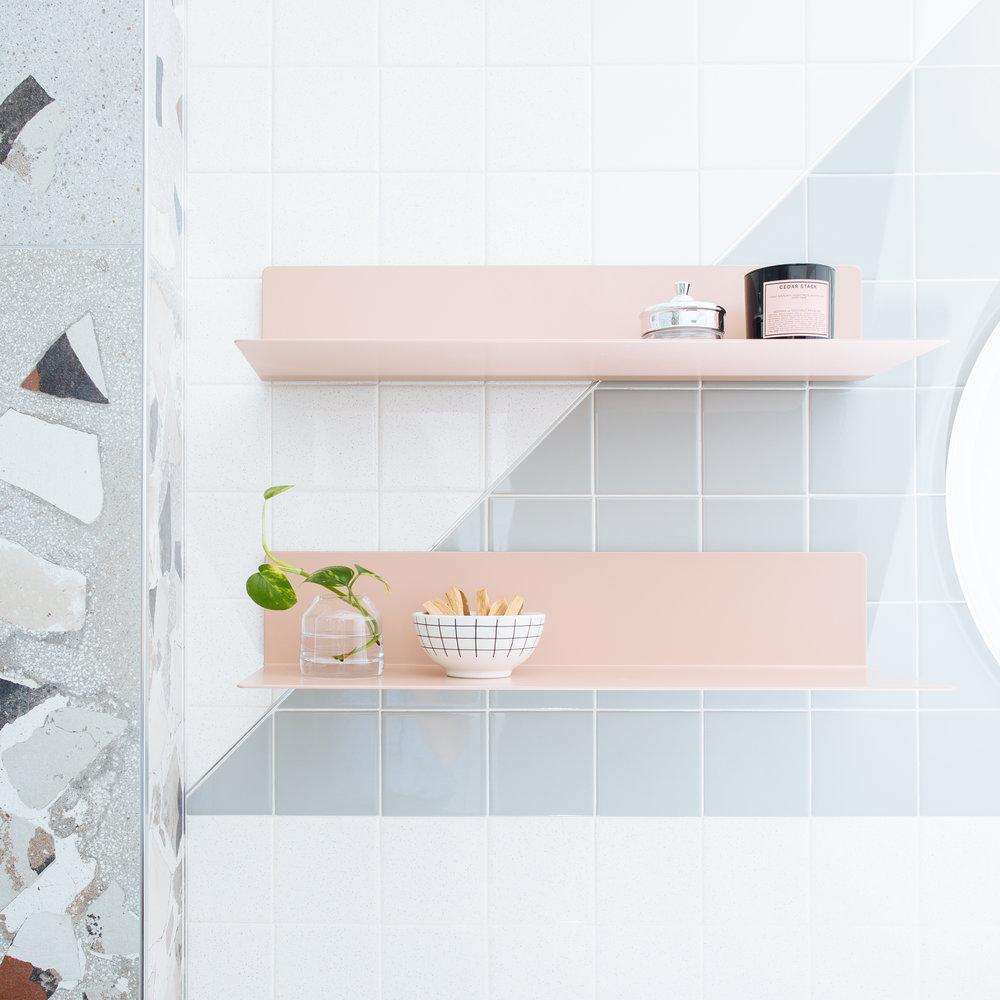 minimalist shelf styling interior design michigan