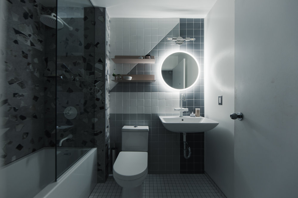Modern Loft Bathroom by Design Bar Detroit