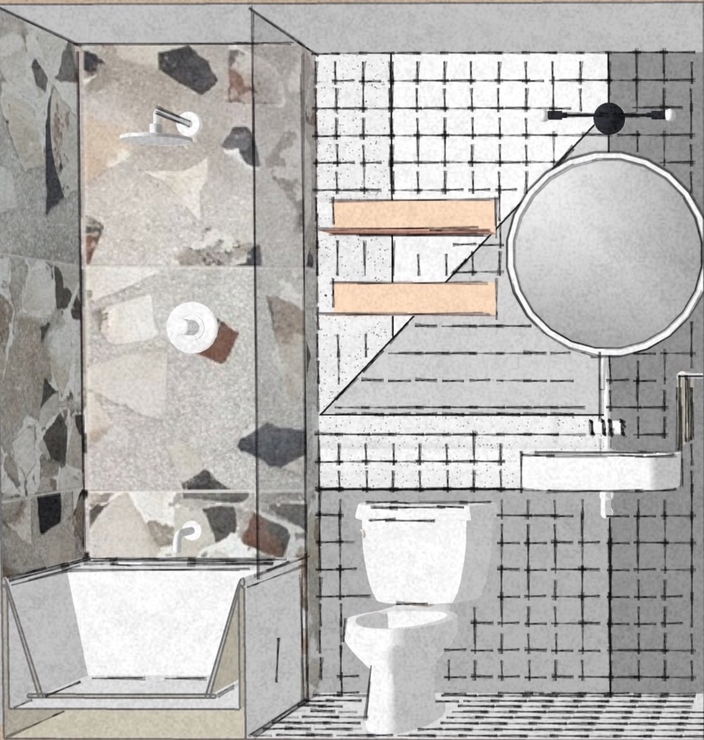 Detroit Bathroom Design Rendering