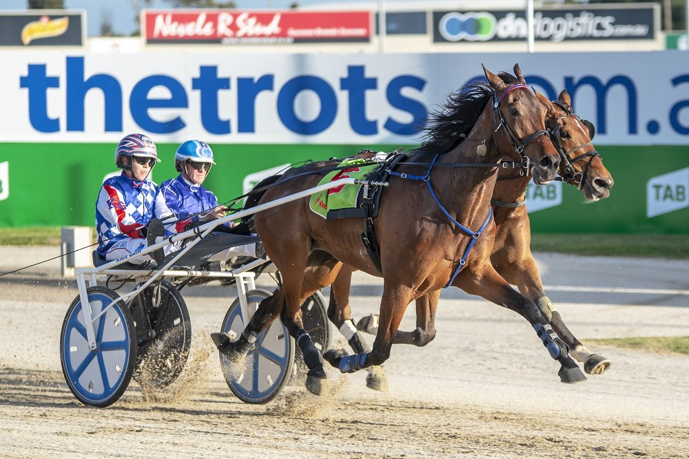 Kate Gath pilots top trotter Tornado Valley to victory at Tabcorp Park Melton on night one of TAB ID18.