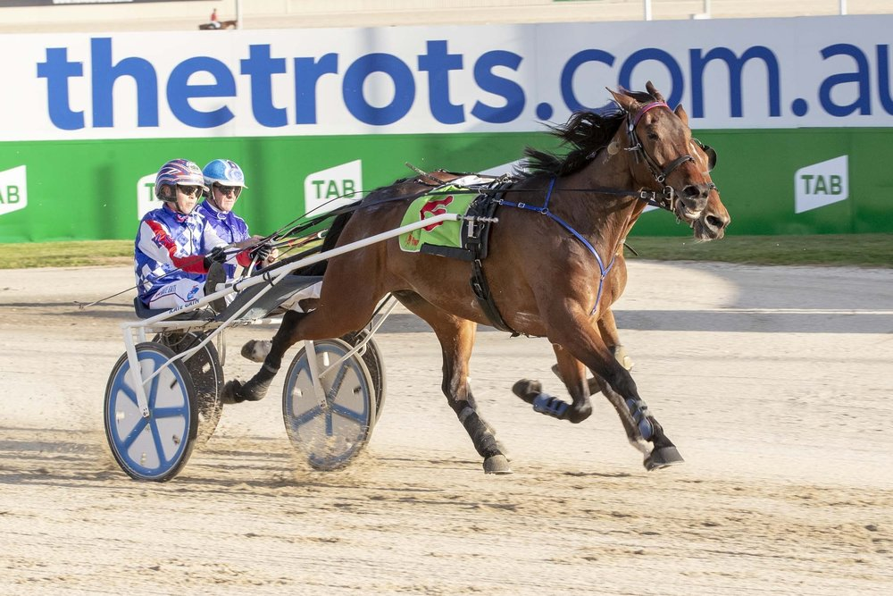 TAB ID18 trotting series favourite Tornado Valley twirls home for Kate and Andy Gath at Tabcorp Park Melton.