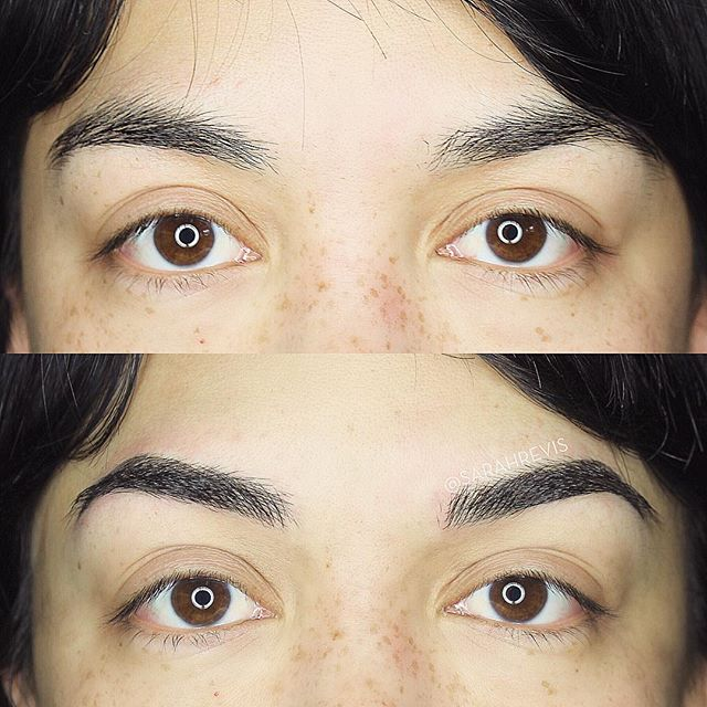 Her brows, only better! @warhorsetattoo #berkeley #permanentmakeup #microblading