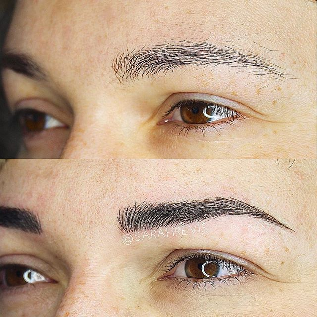 ⚡️Some brows just need a little pick me up!⚡️ @warhorsetattoo #berkeley #browmagic #microblading #sarahrevisbrows